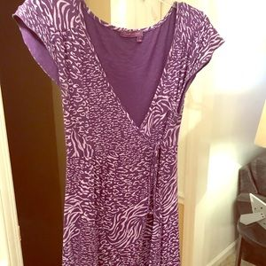 Fresh Produce purple wrap dress